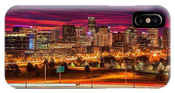 Denver Skyline Sunrise IPhone Case