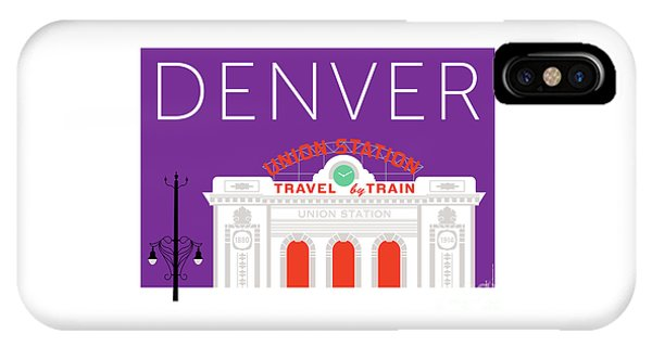 Denver Union Station/purple IPhone Case