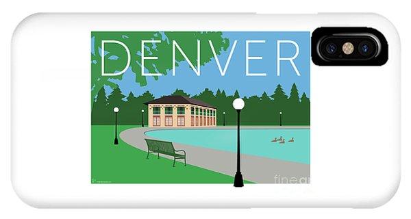 IPhone Case featuring the digital art Denver Washington Park/blue by Sam Brennan