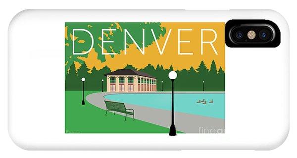 IPhone Case featuring the digital art Denver Washington Park/gold by Sam Brennan