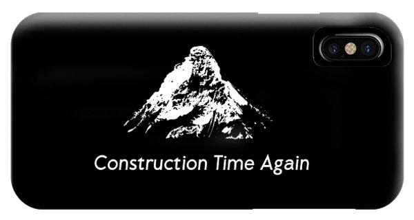 Again iPhone Case - Construction Time Again Simple Logo by Luc Lambert