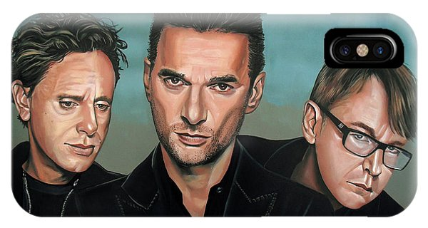 Electronic iPhone Case - Depeche Mode Painting by Paul Meijering