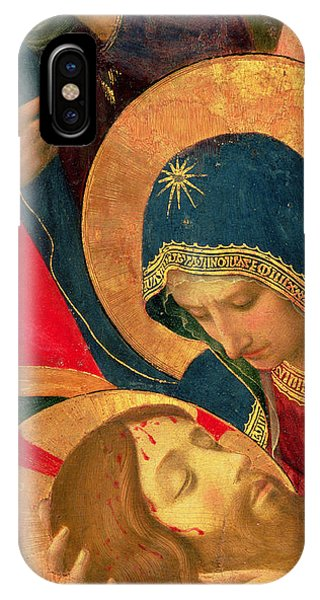 Mary Mother Of God iPhone Case - Deposition From The Cross by Fra Angelico