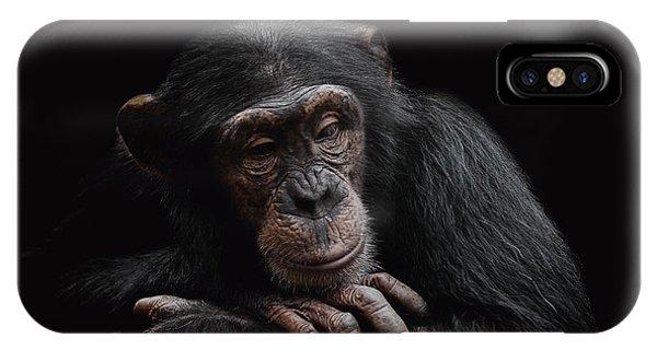 Chimpanzee iPhone Case - Depression  by Paul Neville