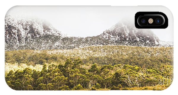 Mountainous iPhone Case - Depths And Ranges  by Jorgo Photography - Wall Art Gallery