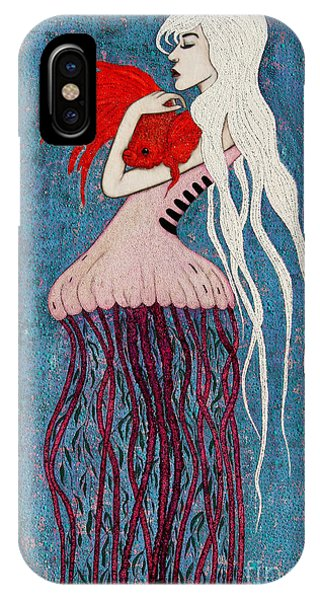 IPhone Case featuring the mixed media Depths Of Love by Natalie Briney