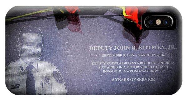 Deputy Kotfila IPhone Case
