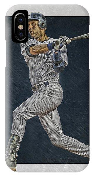Derek Jeter New York Yankees Art 2 IPhone Case