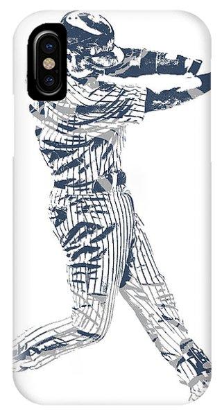 Derek Jeter New York Yankees Pixel Art 10 IPhone Case