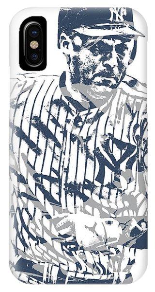 Derek Jeter New York Yankees Pixel Art 12 IPhone Case