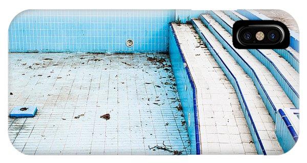 Alga iPhone X Case - Derelict Pool by Tom Gowanlock