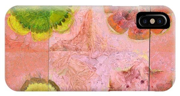 Atomic Tangerine iPhone Case - Derelictness Speculation Flower  Id 16165-132801-06601 by S Lurk