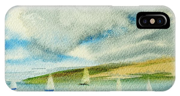 Dark Clouds Threaten Derwent River Sailing Fleet IPhone Case