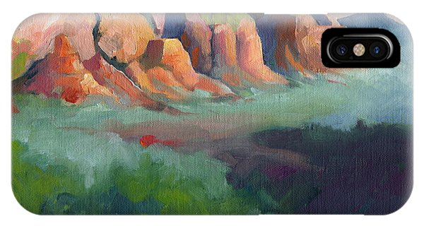 Desert Afternoon Mountains Sky And Trees IPhone Case