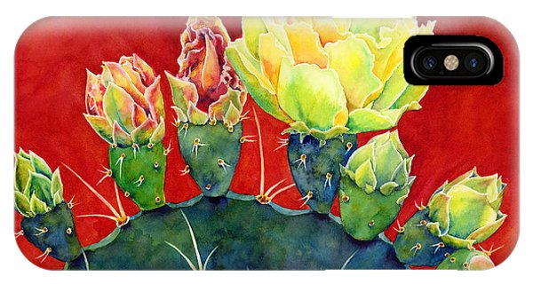 Cactus iPhone Case - Desert Bloom 3 by Hailey E Herrera