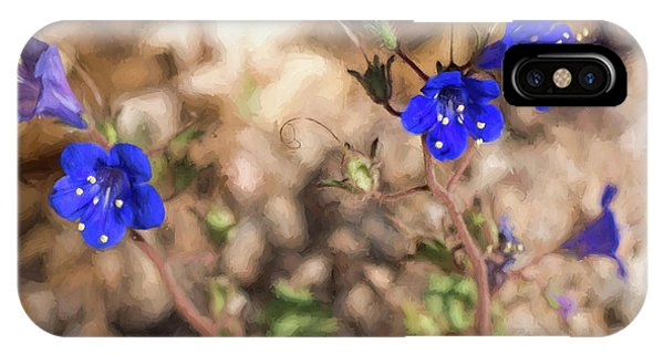 IPhone Case featuring the photograph Desert Blue Bells At Joshua Tree National Park by Penny Lisowski