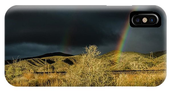 Desert Double Rainbow IPhone Case