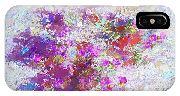 IPhone Case featuring the painting Desert Flowers Abstract 3 by Penny Lisowski