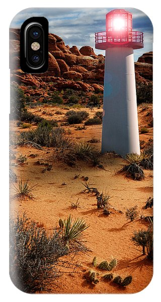 IPhone Case featuring the photograph Desert Lighthouse by Harry Spitz