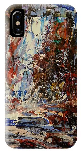 IPhone Case featuring the painting Desert Oasis Waterfall by Reed Novotny