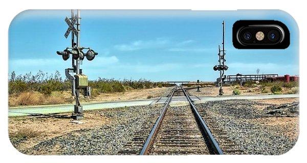 Desert Railway Crossing IPhone Case