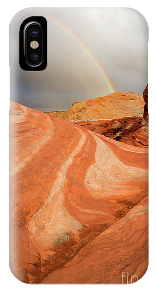 Valley Of Fire iPhone Case - Desert Rainbow by Mike Dawson