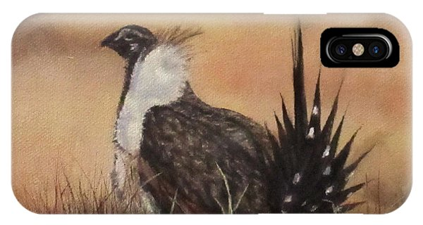 Desert Sage Grouse IPhone Case