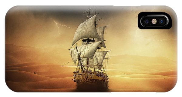 Ship iPhone Case - Desert Storm by Zoltan Toth
