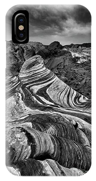 Valley Of Fire iPhone Case - Desert Stripes by Mike Dawson