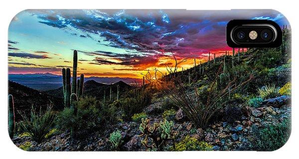 Desert Sunset Hdr 01 IPhone Case