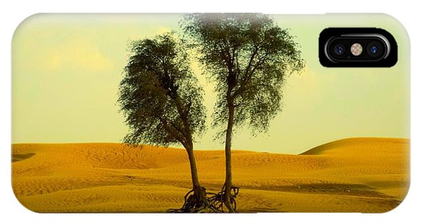IPhone Case featuring the photograph Desert Trees by Barbara Von Pagel