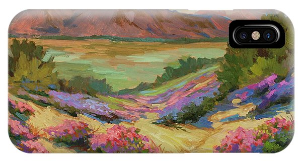 Lutheran iPhone Case - Desert Verbena At Borrego Springs by Diane McClary