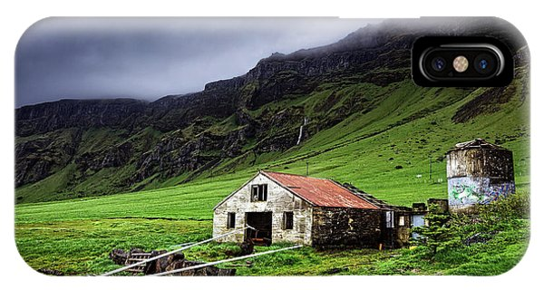 Deserted Barn In Iceland IPhone Case