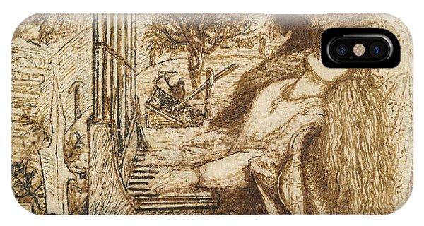 Pre-modern iPhone Case - Design For Moxon's Tennyson - Saint Cecilia by Dante Gabriel Rossetti