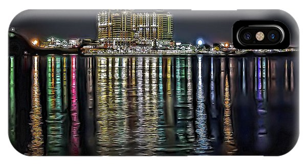 Destin Night Across The Estuary IPhone Case