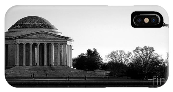 Jefferson Memorial iPhone Case - Destination Washington  by Olivier Le Queinec