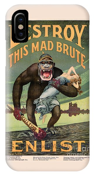 Destroy This Mad Brute - Restored Vintage Poster IPhone Case
