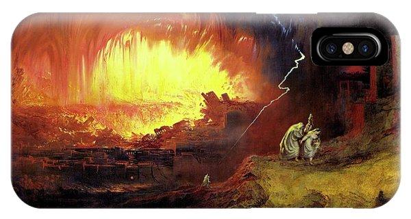 Destruction Of Sodom And Gomorah IPhone Case