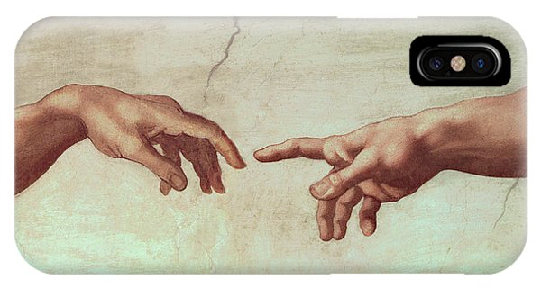 Ceiling iPhone Case - Detail From The Creation Of Adam by Michelangelo