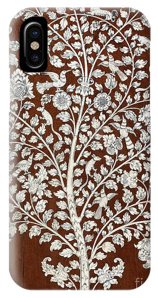 British Empire iPhone Case - Detail Of A Vintage Botanical Pattern by Anglo Indian School