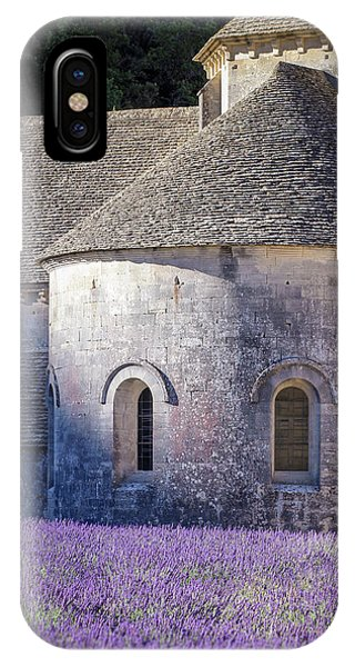 Detail Of Abbaye Senanque, Church In Provence, Southern France, Surrounded By Lavender IPhone Case