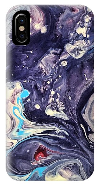 IPhone Case featuring the painting Detail Of Fluid Painting 1 by Robbie Masso
