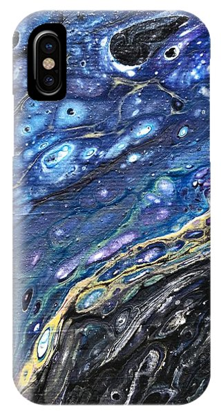 IPhone Case featuring the painting Detail Of He Likes Space 3 by Robbie Masso