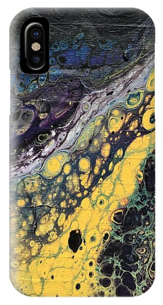 IPhone Case featuring the painting Detail Of He Likes Space 4 by Robbie Masso