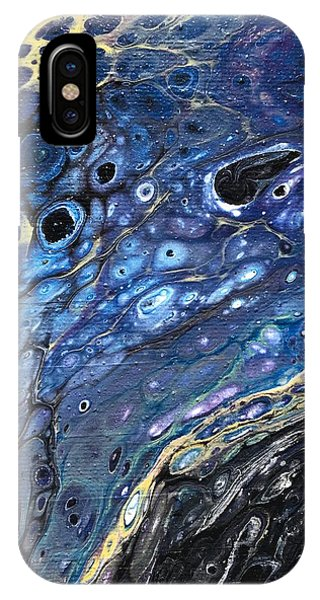 IPhone Case featuring the painting Detail Of He Likes Space 5 by Robbie Masso