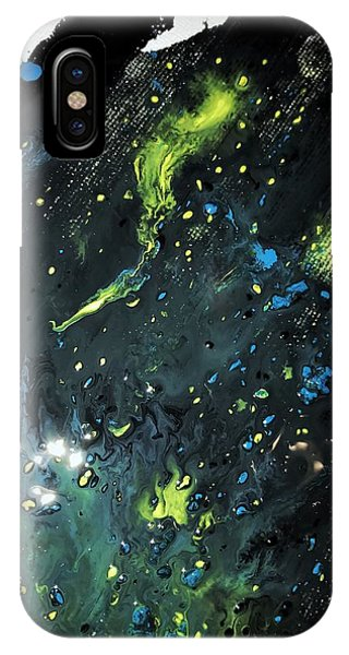IPhone Case featuring the painting Detail Of Mixed Media Painting 2 by Robbie Masso
