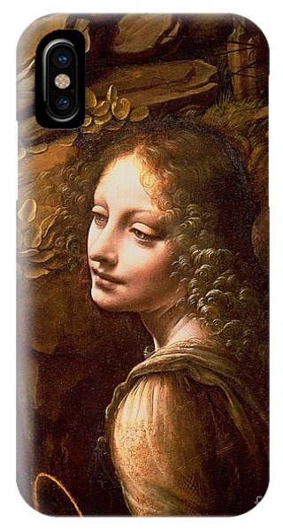 Panel iPhone Case - Detail Of The Angel From The Virgin Of The Rocks  by Leonardo Da Vinci