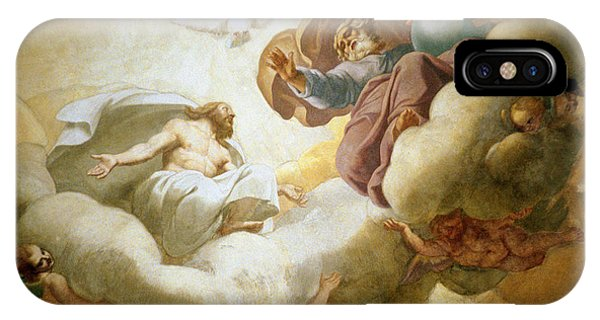 Detail Of The Painting Of The Interior Of The Dome Depicting The Holy Trinity IPhone Case