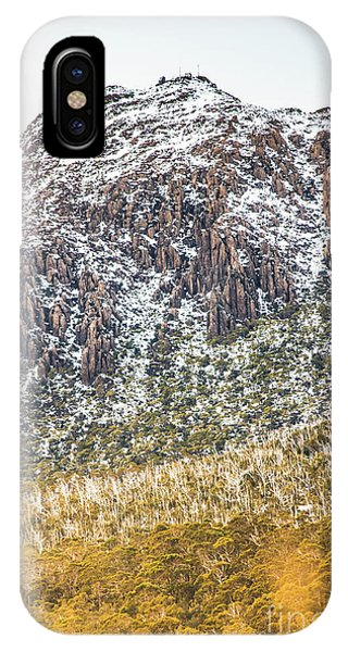 Mountainous iPhone Case - Detail On A Australian Snow Covered Mountain by Jorgo Photography - Wall Art Gallery