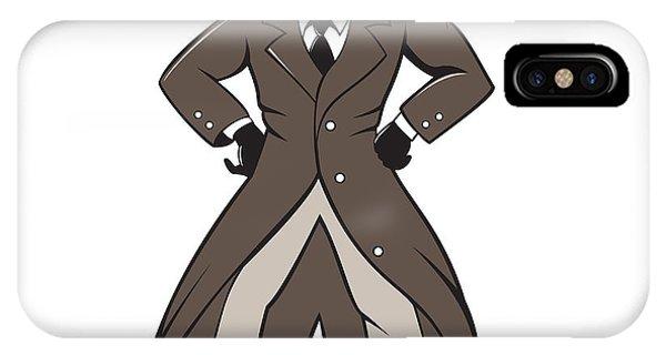 Detective Trenchcoat Hands Akimbo Cartoon IPhone Case